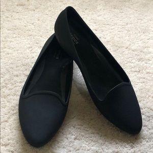 Black Crocs Iconic Comfort Women's Flats